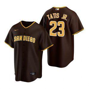 Youth Padres #23 Fernando Tatis Jr. Jersey Brown